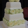 Stacked Ivory Roses